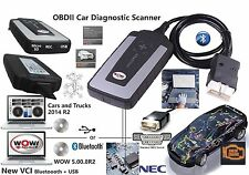 WOW snooper+BT OBD2 diagnostic scanner DS150E EQUIVALENT 2017 V5.008R2 Bluetooth
