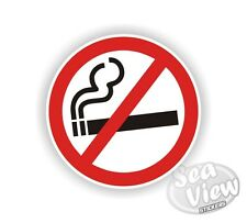 No Smoking Cigerette smoke rule Car Van Stickers Decal Funny Sticker