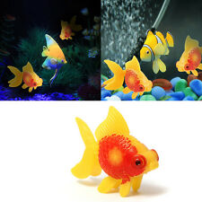 3pcs Aquarium Fish Tank Plastic Swimming Faux Fake Gold Fish Decoration Ornament