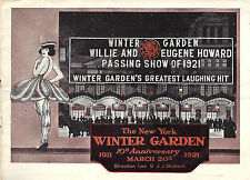 """Willie and Eugene Howard """"PASSING SHOW OF 1921"""" Al Jolson / 10th Anniv. Herald"""