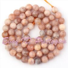 6mm Natural Faceted Round Multicolor Sunstone Gemstone Jewelry Making Beads 15""