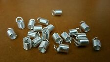 Lot 30 Embouts de Cordons argenté Ressort Attaches 9x5 mm