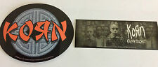 KORN 2-Pack of Stickers Asian Logo/Untouchables NEW OFFICIAL MERCHANDISE Rare