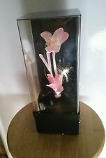 Vintage Fiber Optic Flower Lamp With Music Box