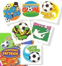 24 x Boys Football  Design Temporary Tattoos - Party Bag Fillers