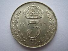 1907 silver Threepence NEF.