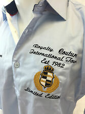 Mens Royalty Button Down Shirt Size Large Blue Yacht Club Boat Marine NWT NEW