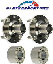2 90-03 MAZDA PROTEGE FRONT WHEEL HUBS & BEARINGS SETS WITH 4 STUDS  90-94 323