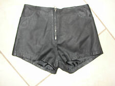 HOT LEATHERS SOFT LEATHER HIGH WAISTED BLACK SIZE XS SEXY SHORTS EUC