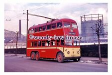gw0421 - Huddersfield Trolleybus no 493 at Marsden in 1962 - photograph