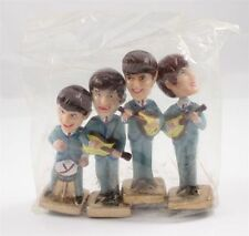 Vintage 1960s Beatles Full Set of Four Bobble Heads Nodders Figures Cake Toppers