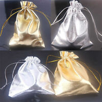 25/50/100Pcs Drawstring Organza Favors Pouch Gifts Bags Wedding Party 12x9cm
