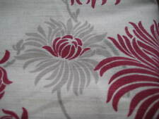 NEW LAURA ASHLEY KIMONO CRANBERRY FLORAL FABRIC MATERIAL (Per Metre)