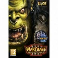 Warcraft III 3 plus Frozen Throne and Reign of Chaos Expansions Game PC