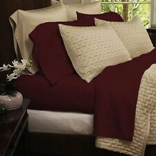 Bamboo Comfort 4-Piece Sheet Set 1800 Series Bedding - Queen Burgundy Sheets