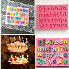 Convenient Silicone Letter Cake Mould Mat Fondant Sugar Craft Mold Decorating