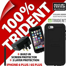 Trident Cyclops Protective Case for iPhone 6 Plus / 6S Plus + USB Mains Charger