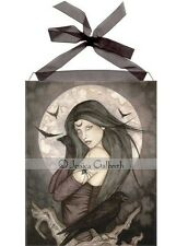 Ceramic Sensations Tile All Hallow's Eve Witch Wall Art Decor Jessica Galbreth