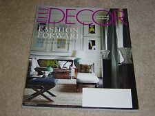 FASHION FORWARD * TOP TRENDSETTERS * MIRRORS October 2011 ELLE DECOR MAGAZINE