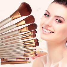 Pro 12Pcs Makeup Brushes Set Powder Foundation Eyeshadow Eyeliner Lip Brush Kit