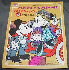 Rare Vintage Mickey & Minnie Steppin' Out Paper Doll Book 1977 by Whitman