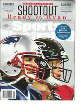 SPORTS ILLUSTRATED, SUPER BOWL PREVIEW   SHOOT OUT  BRADY vs RYAN  JANUARY, 30th