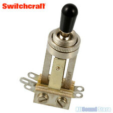 Switchcraft Long Straight 3-Way Toggle Switch with Black Tip for Gibson Les Paul