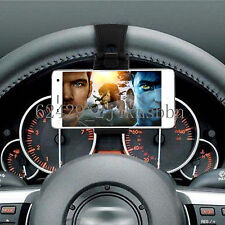"Car Mount Holster Clip On Steering Wheel iPhone 4.7"" Samsung Phone Holder BlacLE"