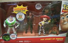 DISNEY TOY STORY OF TERROR GIFT PACK BUZZ JESSIE COMBAT CARL W/ DVD CBF07 *NEW*