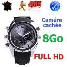 MONTRE CAMERA CACHEE ESPION FULL HD VIDEO1920x1080 VISION NOCTURNE ETANCHE 8Go