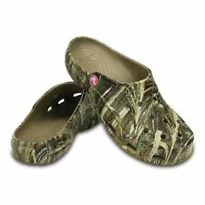 NWT Crocs Realtree Max-5 Freesail Clogs, Women's Size 10 Khaki/Camouflage