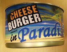 Cheeseburger canned in Paradise Fun gag gift for your favorite junk food junkie
