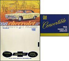 1966 Chevy Impala Convertible Owners Manual Set Owner Guide Top Book Envelope