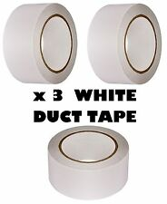 3 x White AUTOMOTIVE DUCT Tape Gaffa Cloth Strong 48mm x 50m Waterproof Strong