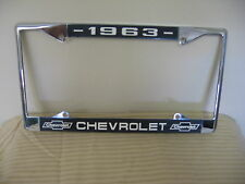1963 Chevy License Plate Frame with Chevrolet Bowtie