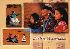 Native Americans, Navajo Indian Nation, Weaving Traditional Dress Dance Postcard