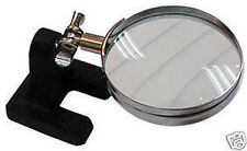 Hands Free Table Top Adjustable Magnifier 5X Magnification Magnifying Glass 2""