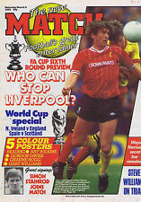 KENNY DALGLISH LIVERPOOL / READING / GRAEME HOGG MAN UTD Match Mar 9 1985