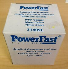 """Powerfast Outward Clinch Staples 9/16"""" Copper 31409C 5000 Ct Box"""