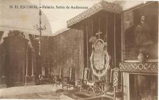 Tarjeta Postal EL ESCORIAL. - Palacio. Salón de Audiencias.