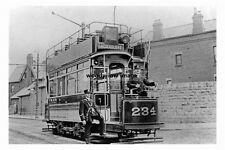 pt3777 - Tram no 234 to Attercliffe , Sheffield , Yorkshire - photo 6x4