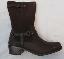 UGG big girls youth 4 Caddie lodge brown leather western inspired boots NEW