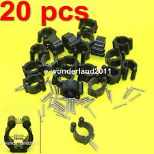 20 pcs Standard Fishing Pole Storage Tip Clips Clamps Rod Holders With Screws