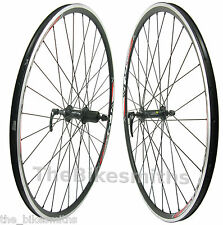 Alex (XLC) Pave 700c Black Road Bike Wheelset Shimano 8 9 10 Speed Front & Rear
