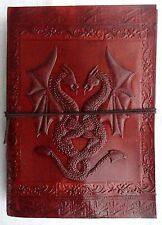 """Handmade Paper Diary Leather Bound Journal Embossed Vintage Brown Notebook 7""""x5"""""""