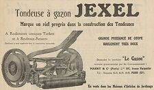 Y8914 Tondeuse à gazon JEXEL - Pubblicità d'epoca - 1929 Old advertising