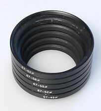 (PRL) ANELLI CONVERSIONE DA 67 A 49 52 55 58 62 mm STEP DOWN RING ADAPTER PHOTO