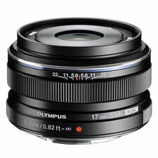 Genuine Olympus M.ZUIKO Digital 17mm f/1.8 Lens Black - Bulk Package