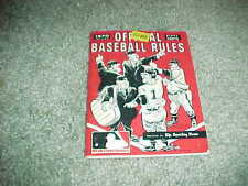 1970 The Sporting News MLB Official Baseball Rules Guide