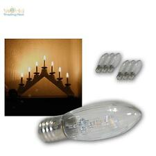 7x LED E10 replacement light bulb clear f Holiday Candle arches warm